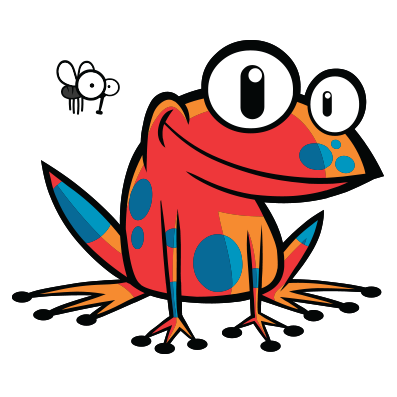 Poison Dart Frog Tshirt with insect