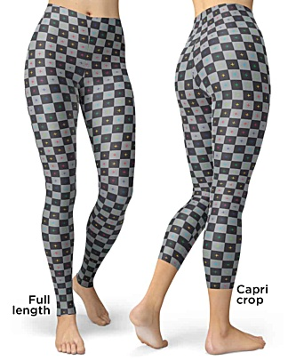 3D UV Grid Animation Animator Leggings