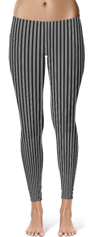 Classic Black & White Pin Stripe Leggings