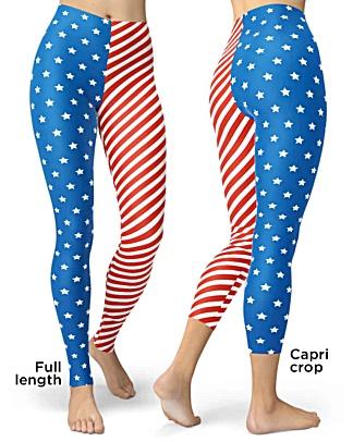 USA Patriot 4th of july American flag leggings
