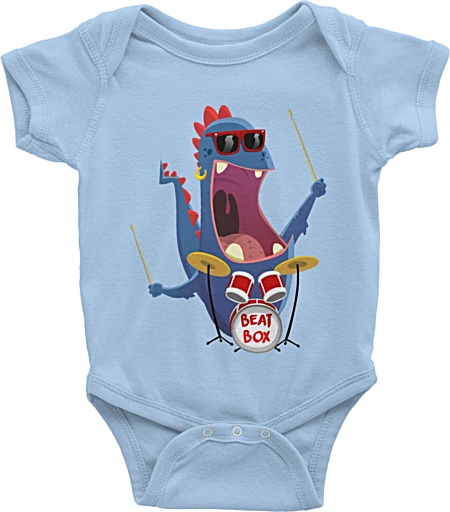 Little Musicians Drummer Baby Onesie