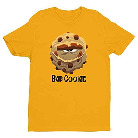 Cartoon Bad Cookie Designer Men's Tshirt