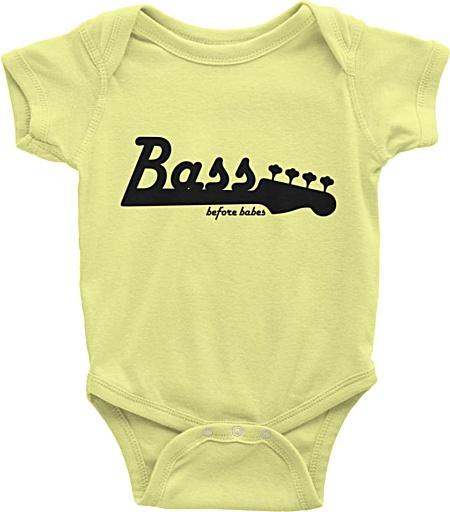 Little Musicians Bass Player Baby Onesie