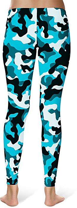 Blue Camo Camouflage Leggings