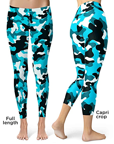 Blue Camo Camouflage Leggings