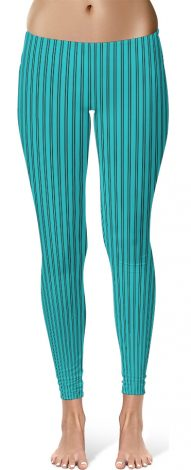 Classic Blue Pin Stripe Leggings