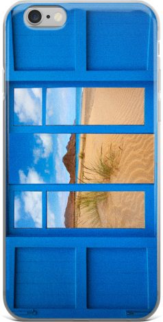 Blue Window iPhone Cover