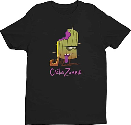 Designer Cactus Zombie Tshirt for me - by Squeakychimp