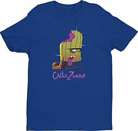Designer Cactus Zombie Tshirt for me - by Squeakychimp