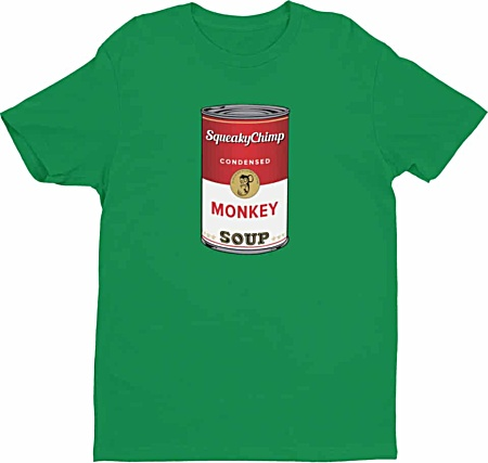 Campbell's Monkey Soup Monkey Tshirt for Men