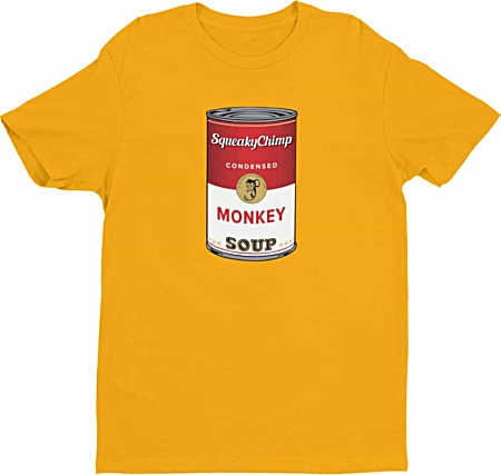 Campbell's Monkey Soup Monkey Tshirt for Men