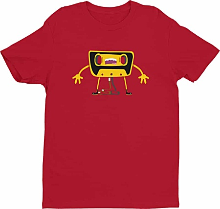 Retro Cassette Tshirt - Tees for Men by Squeaky Chimp