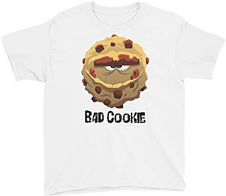 Bad Cookie Monster Kids Tshirt