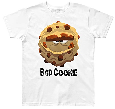 Cookie Monster Tshirt - Bad Cookie T-shirt for youthes