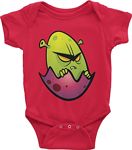 Alien Designer Baby Onesie