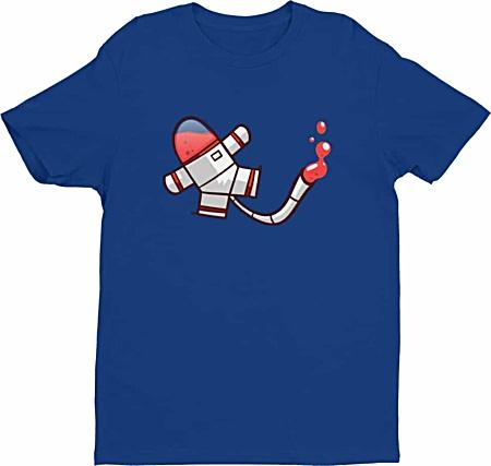 Cool mens spaceman tshirt