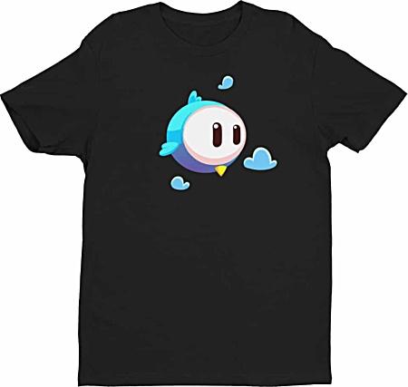 Big Eye Bird Cartoon Tee - Tshirts by Squeaky Chimp