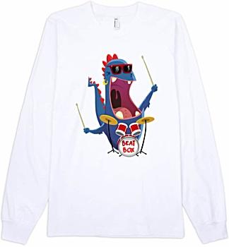 Beat Box Drummer - Unisex Long Sleeve T-Shirt drums dummer cartoon