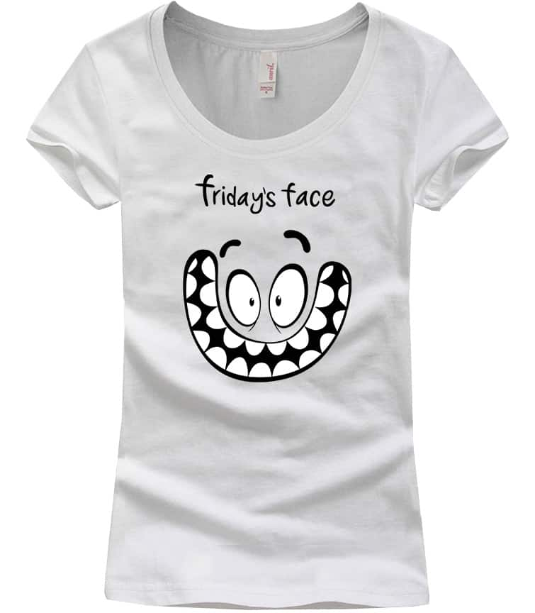 friday-face-scoop-neck-tshirt-white