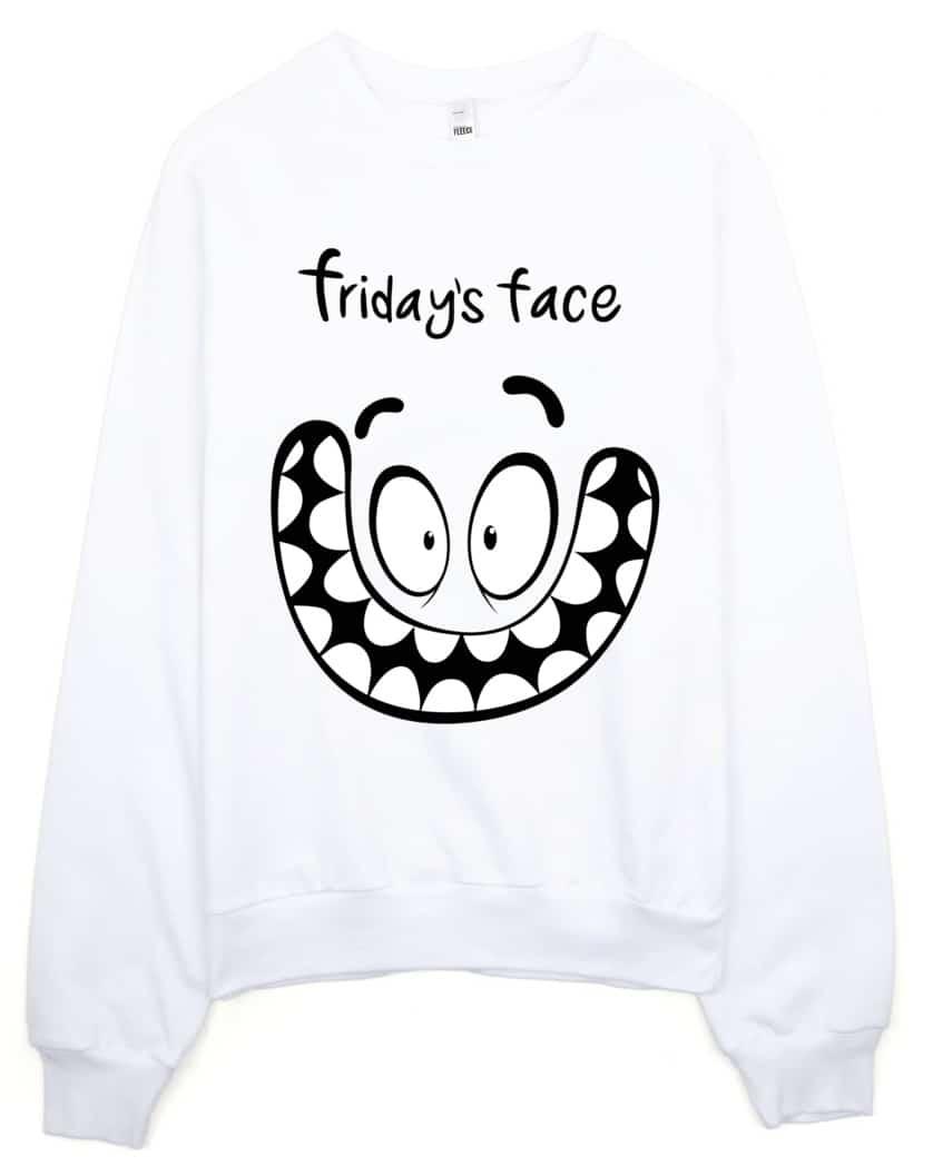 friday-face-sweatshirt-white