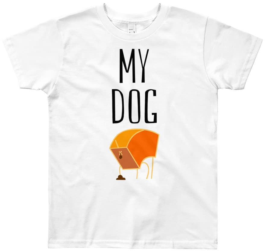 15393a1813fe5 My Dog Poop - Kids Short Sleeve T-Shirt - Designed By Squeaky Chimp ...
