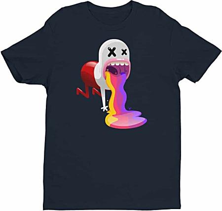 The hangover rainbow vomit designer tshirt