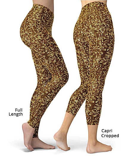 Metallic shimmering shimmer gold leggings New Years