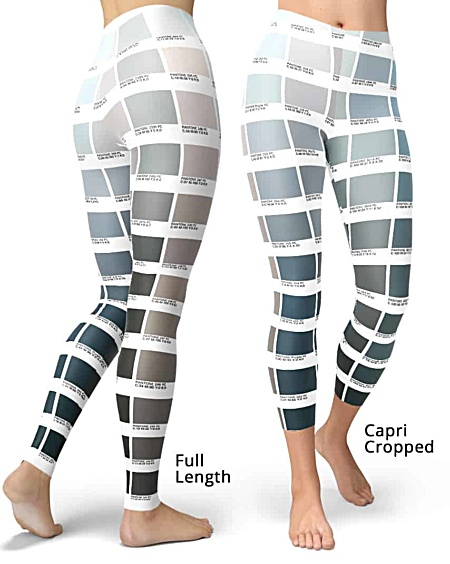 Grayscale Color Pantone leggings for Graphic Designers pantone design pants purple blue green