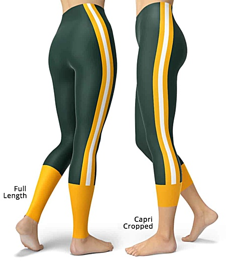 Wisconsin Green Bay Packers NLF Football Leggings for Tailgating