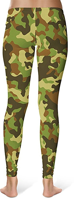 Green Camo Camouflage Leggings