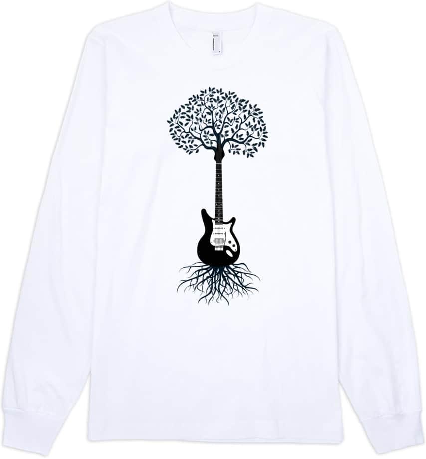 guitar-long-sleeve-tshirt-white