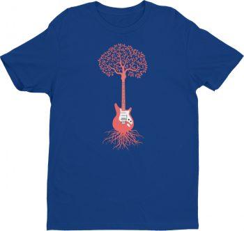 Guitarist tshirt - guitar tree musician - men's tee
