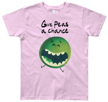 Children's fashion - Give peas a chance designer kids tshirt