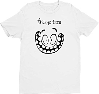 Friday Face Tshirt - Days of the week Mens Tshirt