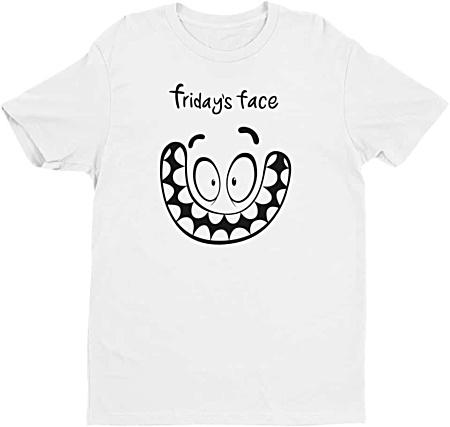 Friday Face Tshirt - Days of the week Mens Tshirt