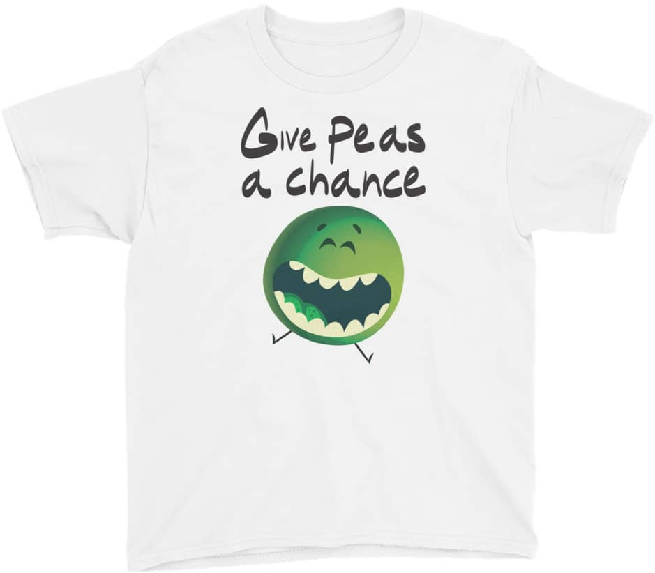 Children's fashion - Give peas a chance designer kids tshirt