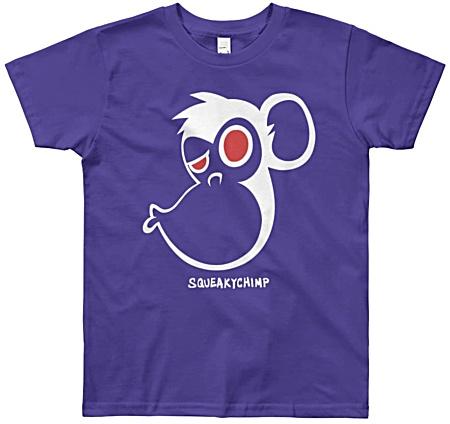 Chimp Kiss Kids Monkey Tshirt