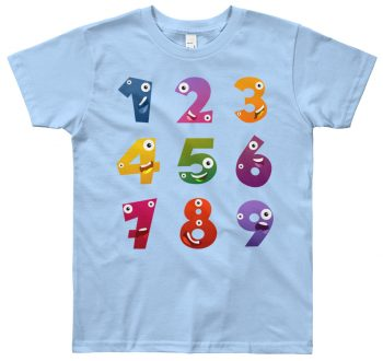 Learn numbers t-shirt - 1 to 9 - designer tee