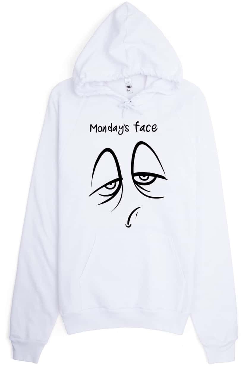 monday-face-hoodie-white