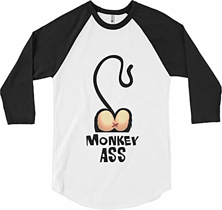 Monkey Ass Baseball Shirt Rude Tshirts