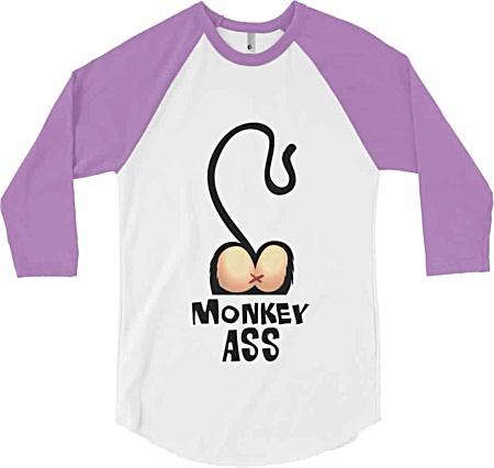 Monkey Ass Baseball Shirt Rude Tshirts