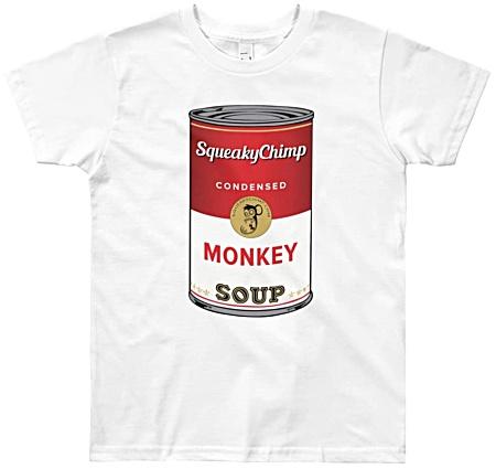 Monkey Soup Kids Funny T-shirts - youth size monkey tees