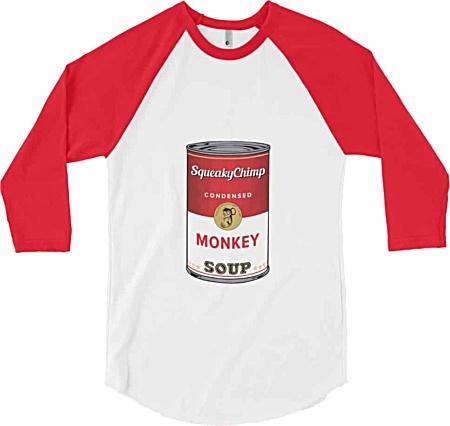 Can of Monkey Soup Can - Long Sleeve Baseball T-Shirt