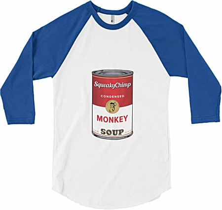 Can of Monkey Soup Can - Long Sleeve Baseball T-Shirt