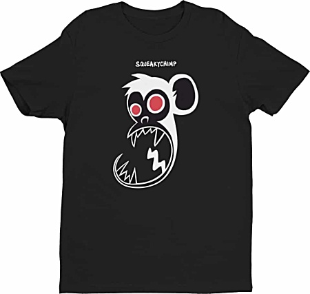 Squeaky Chimp Monkey Tshirts for Men