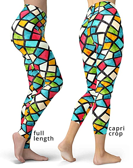 Gaudi Mosiac tile leggings glass colorful