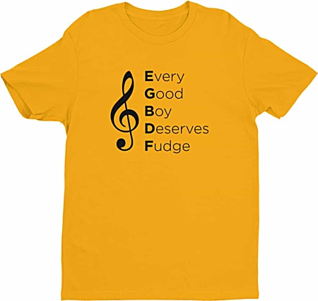 Trouble Clef tshirt - Every good boy does fine - men's tee