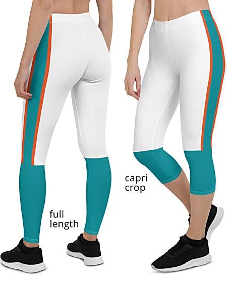 NFL Football Game Day Uniform Miami Dolphins Leggings