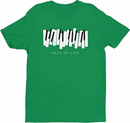 Piano Keys Tshirt for Musicians