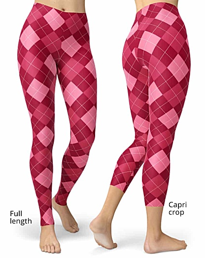 Pink Argyle Leggings